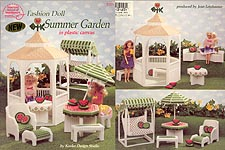 ASN Plastic Canvas Fashion Doll Summer Garden