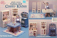 ASN Plastic Canvas Fashion Doll Country Kitchen