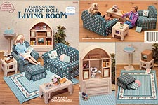 ASN Plastic Canvas Fashion Doll Living Room