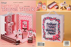TNS Plastic Canvas Fashion Doll Travel Trunk