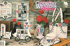 Annie's Attic Plastic Canvas Country Western Hearts