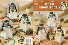 Annie's Attic Plastic Canvas Littlest Indian Angels air freshener covers