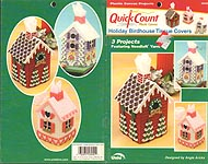 Quick Count Plastic Canvas Holiday Birdhouse Tissue Covers
