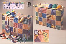 Plastic Canvas Sample Stitches Tote Bag