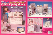 TNC Plastic Canvas Fashion Doll Carry & Play: Kitchen