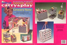 TNC Plastic Canvas Fashion Doll Carry & Play: Grocery Store