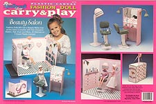 TNC Plastic Canvas Fashion Doll Carry & Play: Beauty Salon