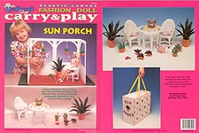 TNC Plastic Canvas Fashion Doll Carry & Play: Sun Porch