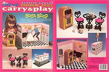 TNC Plastic Canvas Fashion Doll Carry & Play: Soda Shop