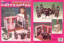 TNC Plastic Canvas Fashion Doll Carry & Play: Dining Room