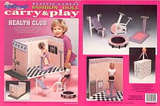 TNC Plastic Canvas Fashion Doll Carry & Play: Health Club
