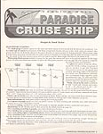 Annie's Attic Plastic Canvas Fashion Doll Paradise Cruise Ship