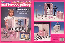 TNC Plastic Canvas Fashion Doll Carry & Play: Boutique