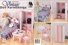 Annie's Attic Plastic Canvas Vintage Doll Furnishings