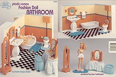 ASN Plastic Canvas Fashion Doll Bathroom