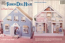 ASN Fashion Doll House in Plastic Canvas