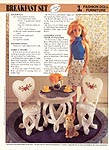 Annie's International Plastic Canvas Club: Fashion Doll Furniture Breakfast Set