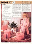 Annie's International Plastic Canvas Club: Fashion Doll Furniture Boudoir Set