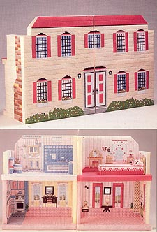 Annie's Attic Fashion Doll PlayHouse in Plastic Canvas