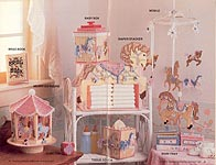 Annie's Attic Plastic Canvas Carousel Nursery Set