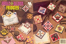 Annie's Attic Plastic Canvas Quilt Block Fridgies