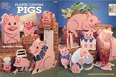 ASN Plastic Canvas Pigs