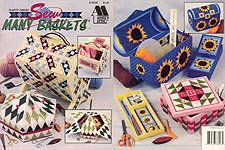 Annie's Attic Plastic Canvas Sew Many Baskets
