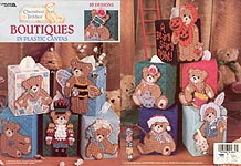 LA Cherished Teddies Boutiques in Plastic Canvas