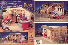 ASN Plastic Canvas Fashion Doll Country Western Dance Club