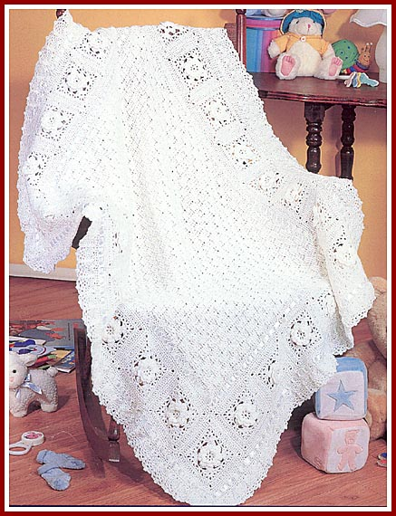 More Herrschners Blue-Ribbon Afghans Crochet Pattern More