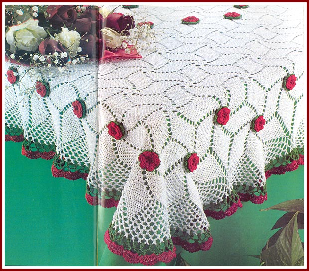 Crochet Tablecloth Pattern Books Elcho Table