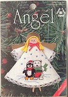Counted Cross Stitch Clothespin Angel Kit: Polar Pals