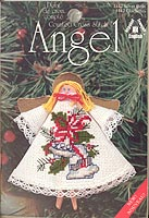 Counted Cross Stitch Clothespin Angel Kit: Silver Bells
