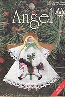 Counted Cross Stitch Clothespin Angel Kit: Carousel Horse