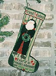 Friends Indeed Wreath Santa Christmas Stocking