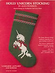 Alice Peterson Holly Unicorn Stocking