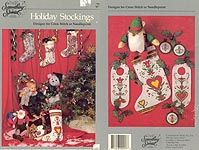 Holiday Stockings Designs for Cross Stitch or Needlepoint