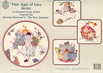 "Designs by Gloria & Pat ""Four Ages of Love"" Series, Inspired by Norman Rockwell's ""The Four Seasons"""