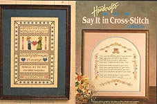 Country Handicrafts Say It In Cross Stitch