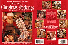 Better Homes and Gardens Heirloom Christmas Stockings in Cross- Stitch